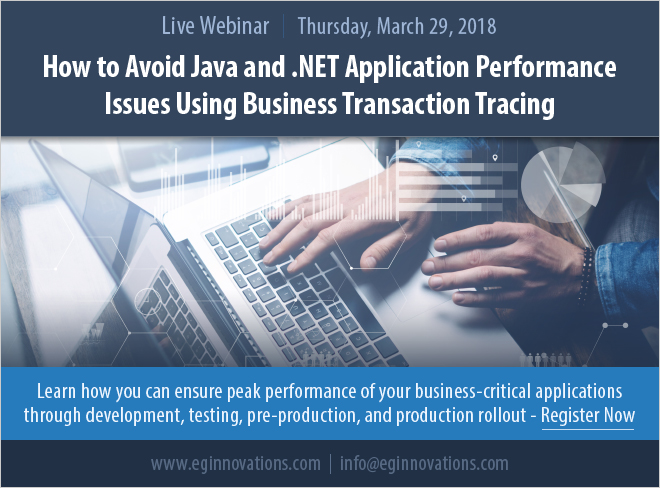 Webinar: How to Avoid Java and  NET Application Performance