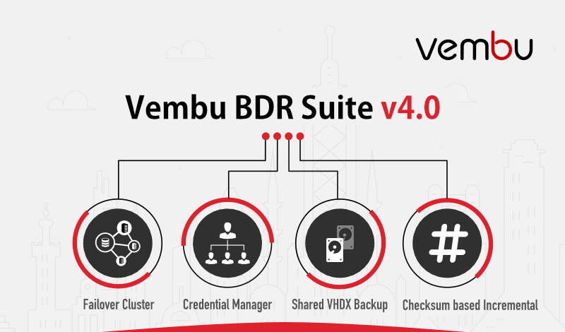 Vembu Releases BDR Suite V4 0 with Hyper-V Failover Cluster