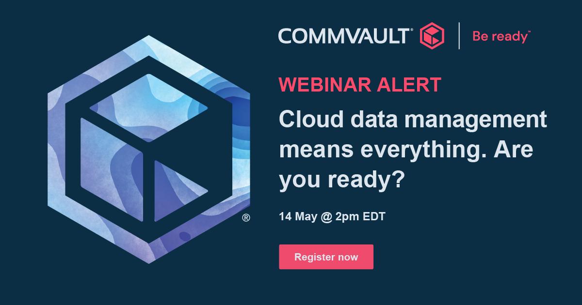 Commvault Webinar May 14